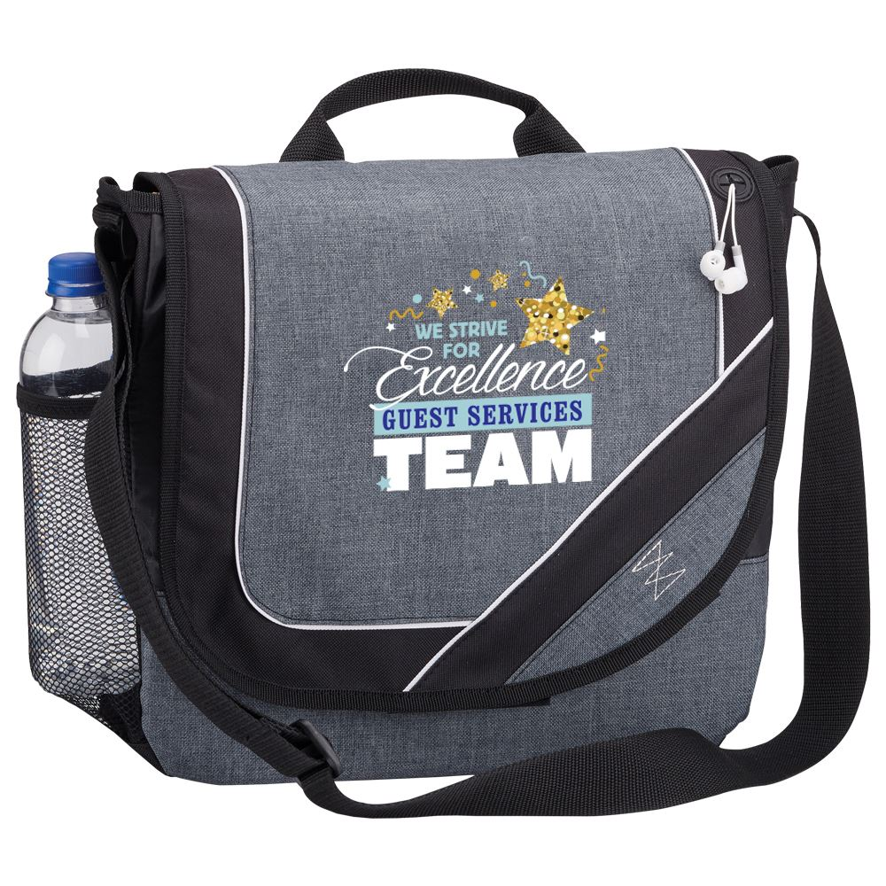 Guest Services Team: We Strive For Excellence Portland Messenger/Briefcase Bag