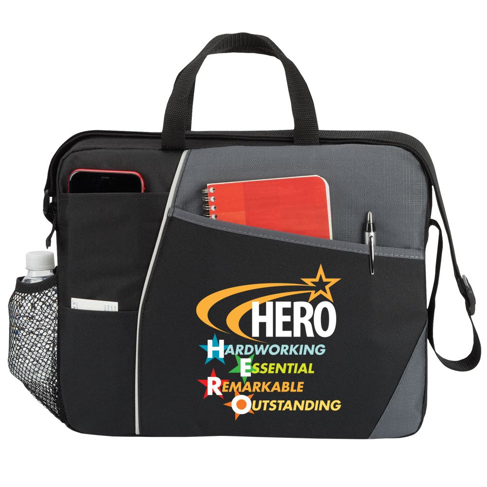 Hero: Hardworking, Essential, Remarkable, Outstanding Concord Briefcase Bag