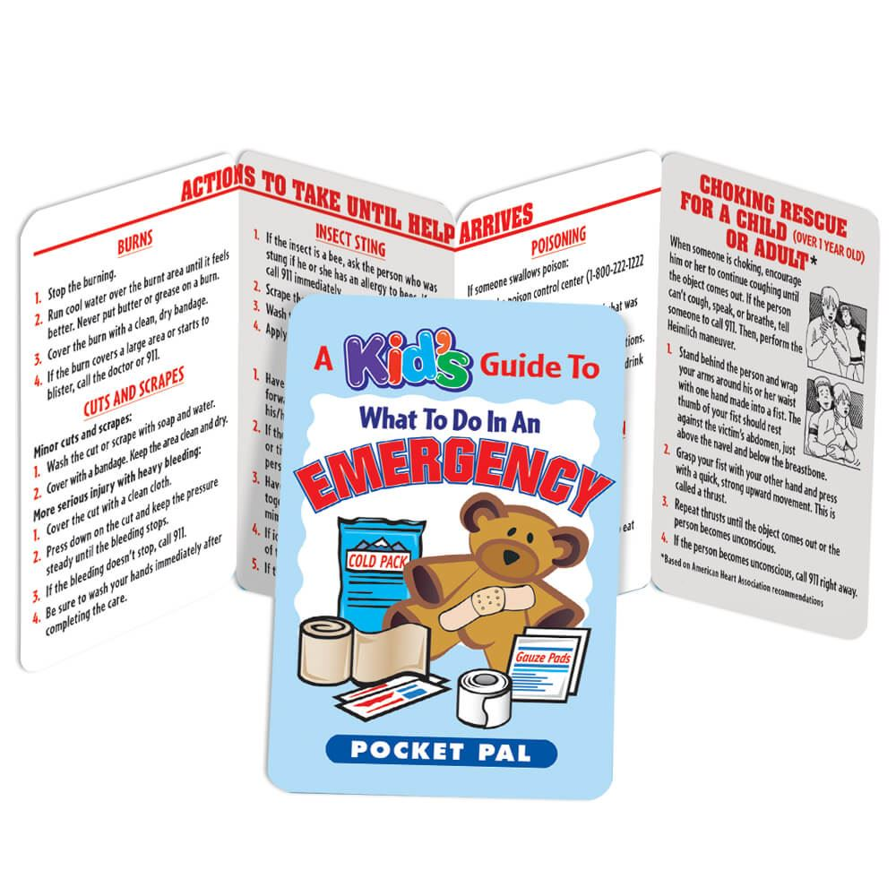 A Kid's Guide To What To Do In An Emergency Pocket Pal - Personalization Available