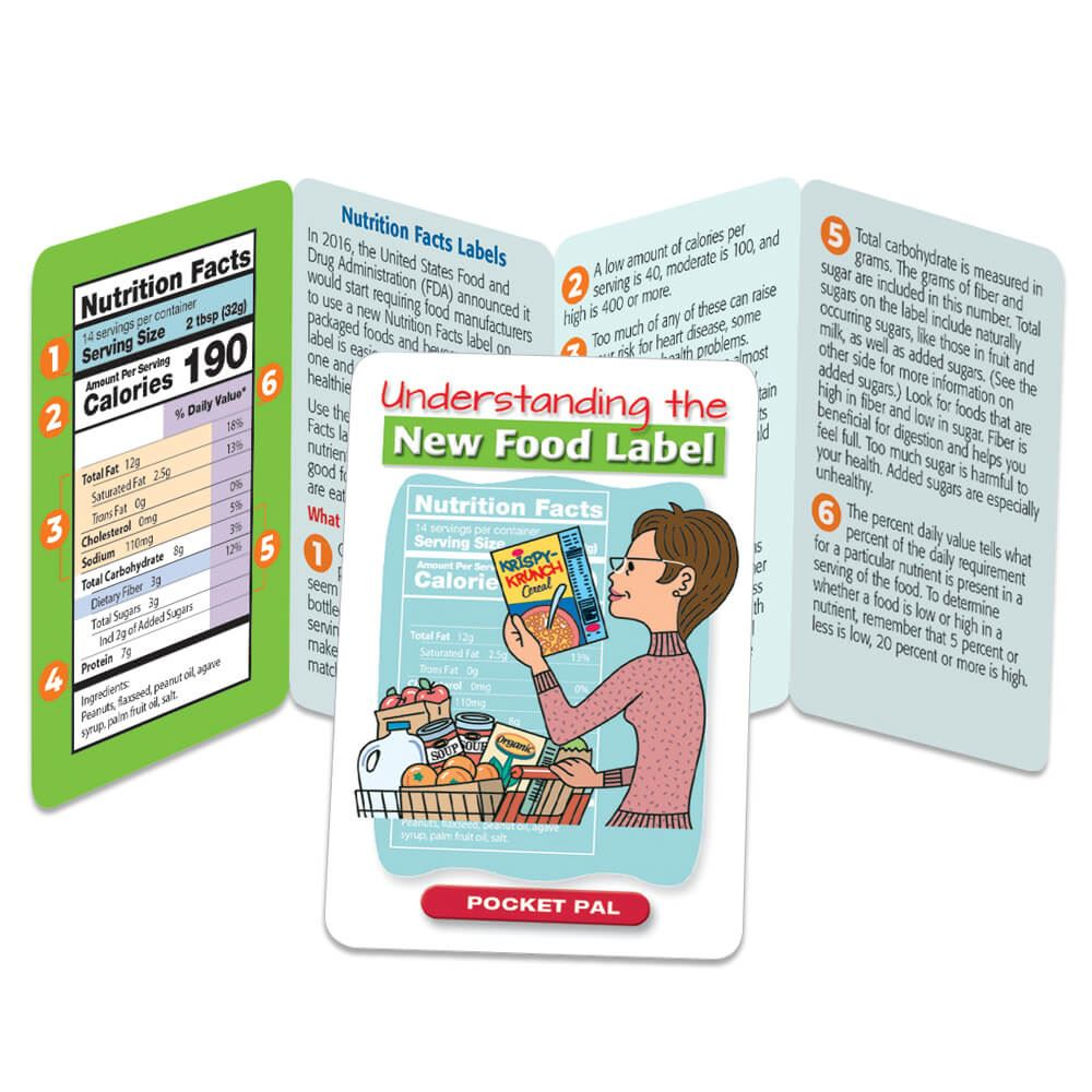 Understanding the New Food Label Pocket Pal - Personalization Available
