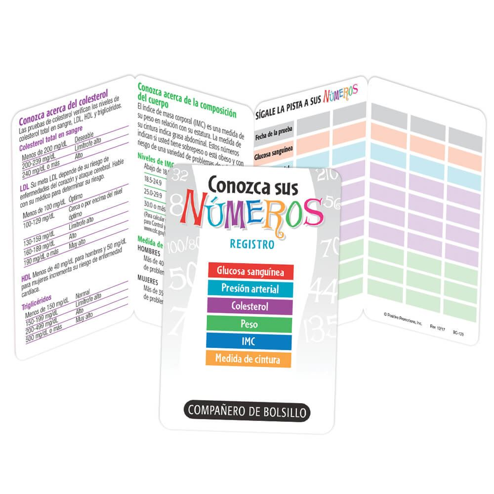 Know Your Numbers Recorder Pocket Pal Spanish Language - Personalization Available