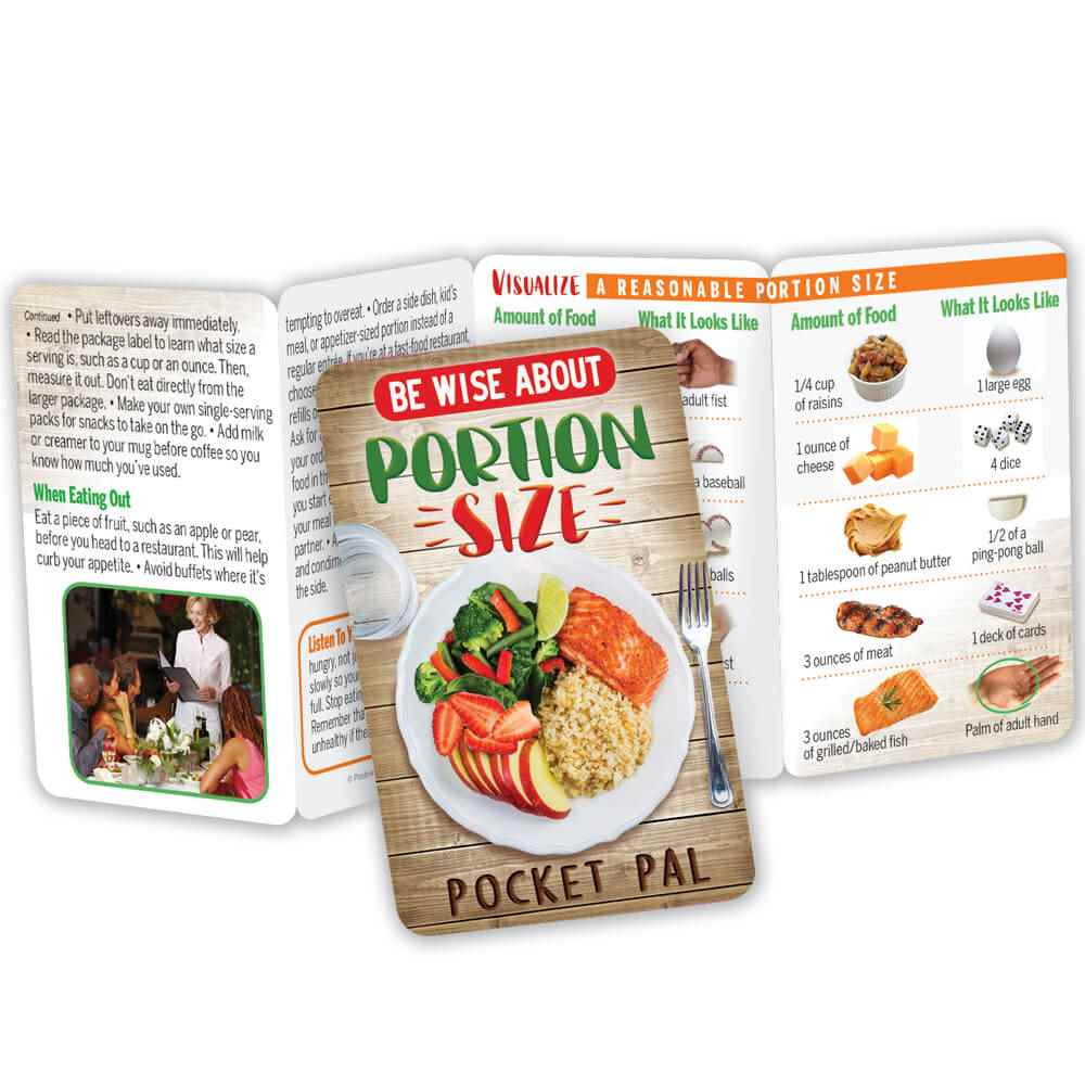 Be Wise About Portion Size Pocket Pal - Personalization Available