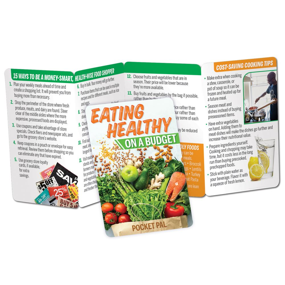 Eating Healthy On A Budget Pocket Pal - Personalization Available