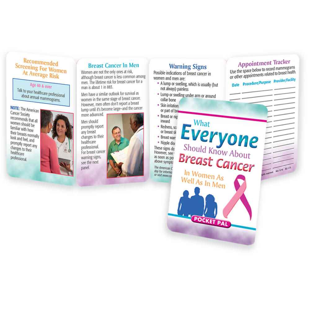 What Everyone Should Know About Breast Cancer In Women As Well As In Men Pocket Pal - Personalization Available