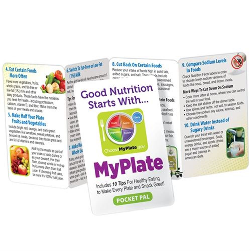 Good Nutrition Starts With MyPlate Pocket Pal - Personalization Available
