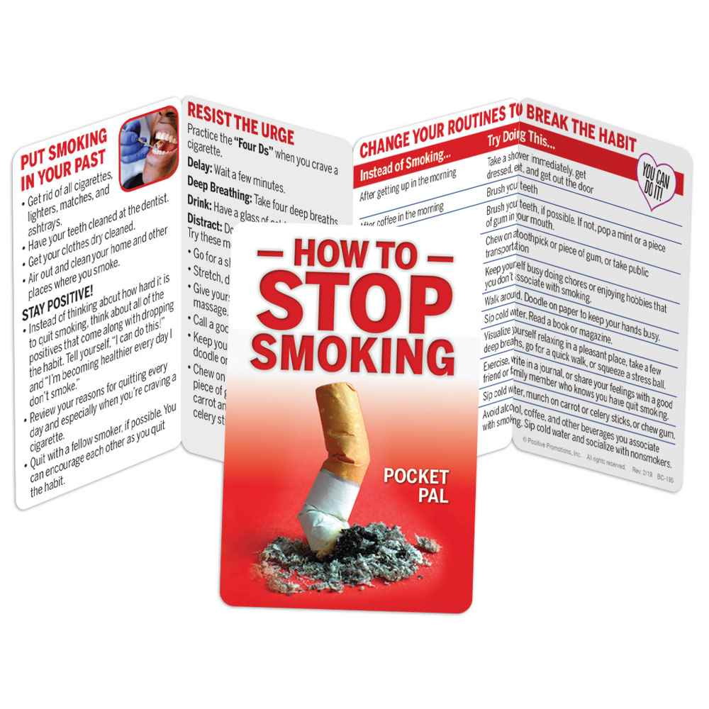 How To Stop Smoking Pocket Pal - Personalization Available