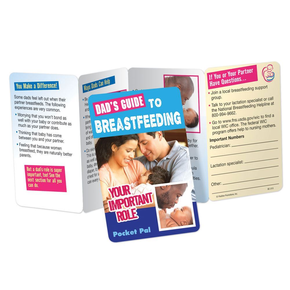 Dad's Guide To Breastfeeding: Your Important Role Pocket Pal - Personalization Available