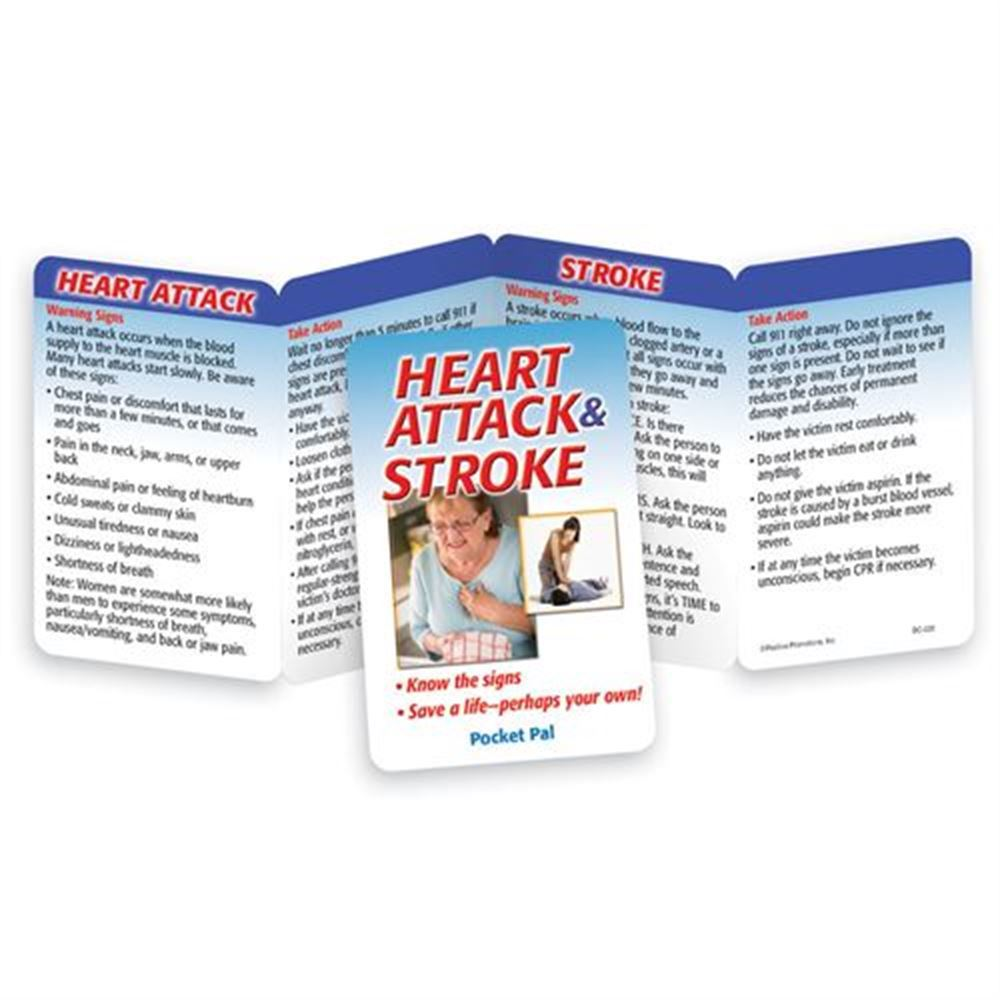 Heart Attack & Stroke: Know The Signs - Save A Life-Perhaps Your Own! Pocket Pal - Personalization Available