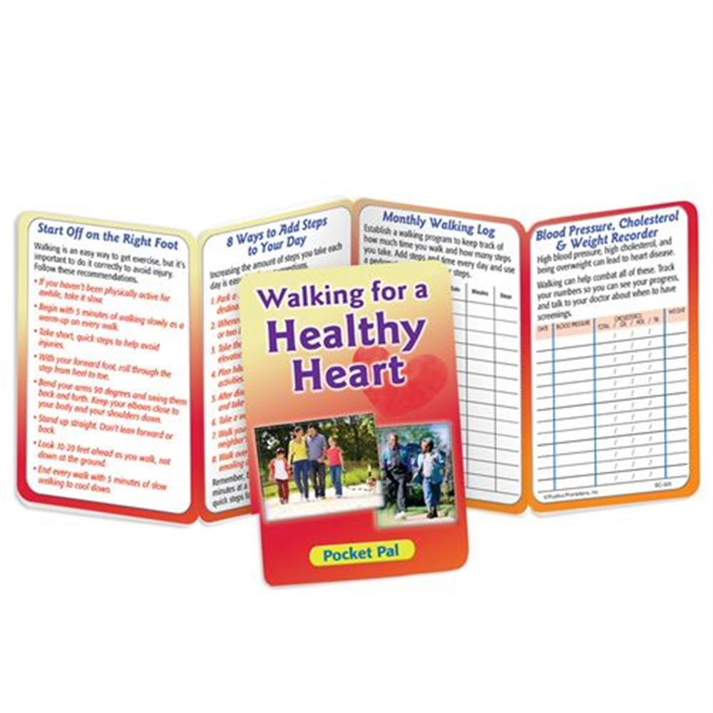 Walking For A Healthy Heart Pocket Pal - Personalization Available