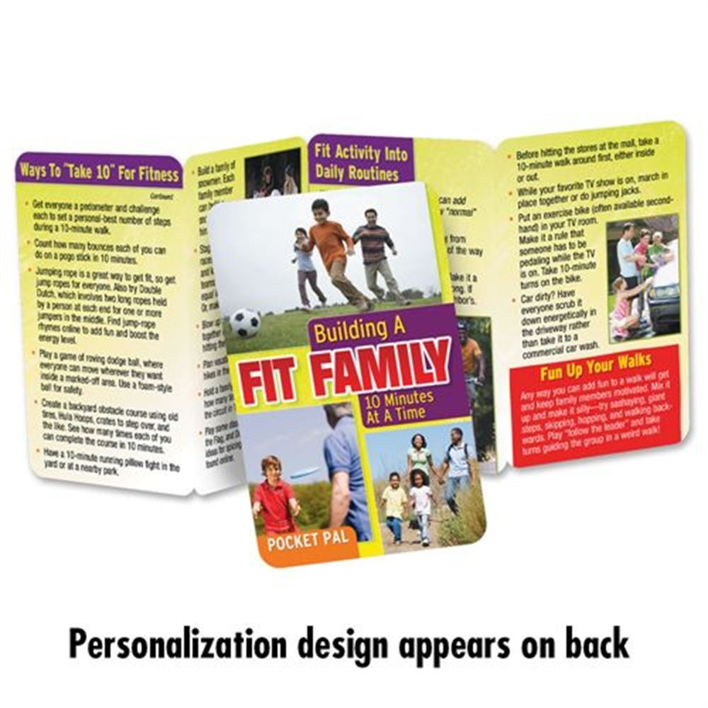 Building A Fit Family 10 Minutes At A Time Pocket Pal - Personalization Available