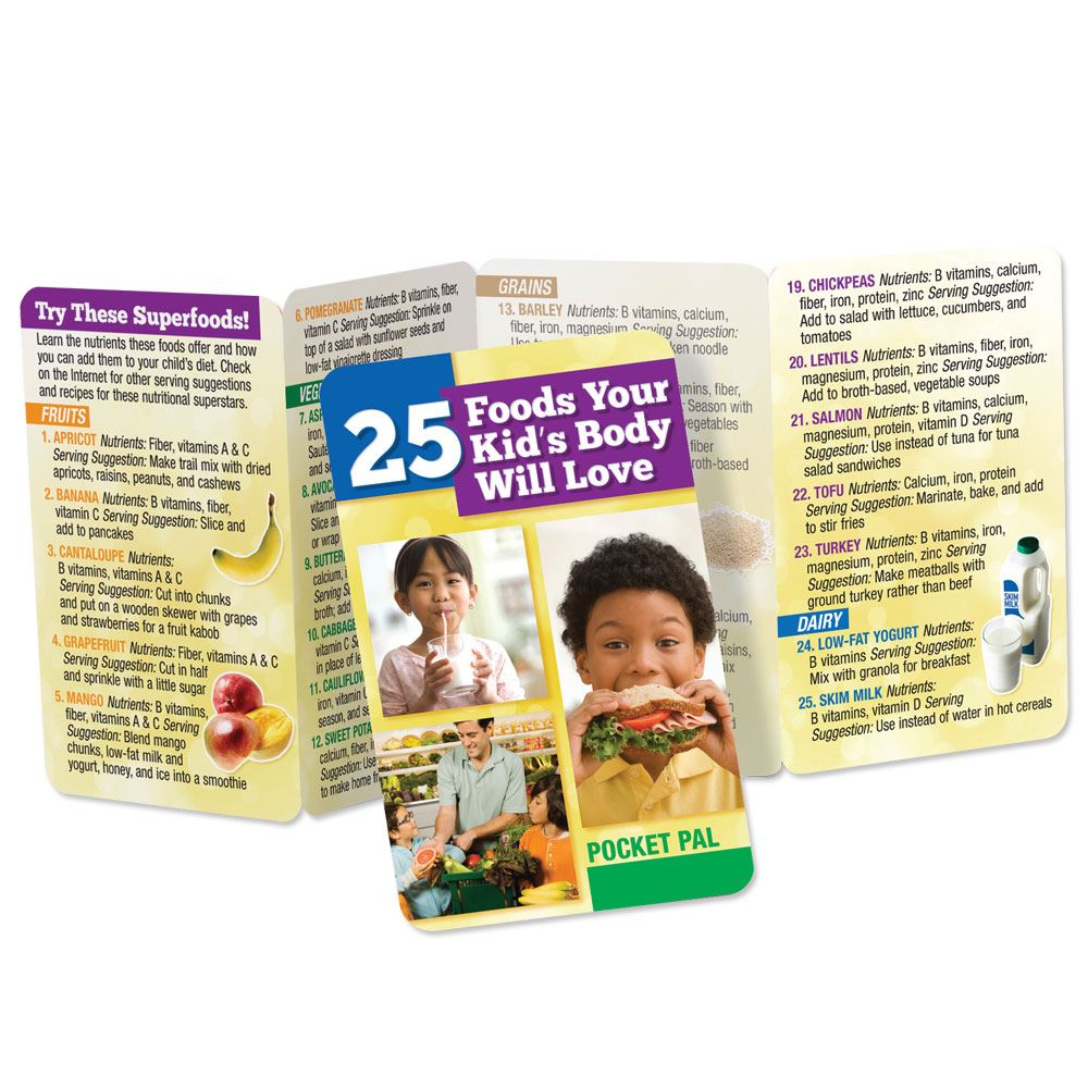 25 Foods Your Kid's Body Will Love Pocket Pal - Personalization Available