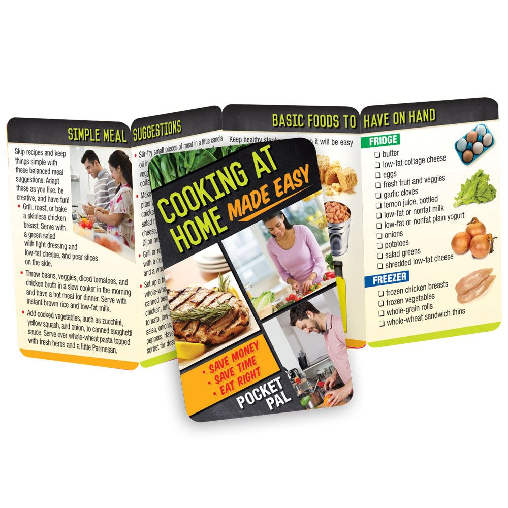 Cooking At Home Made Easy Pocket Pal - Personalization Available