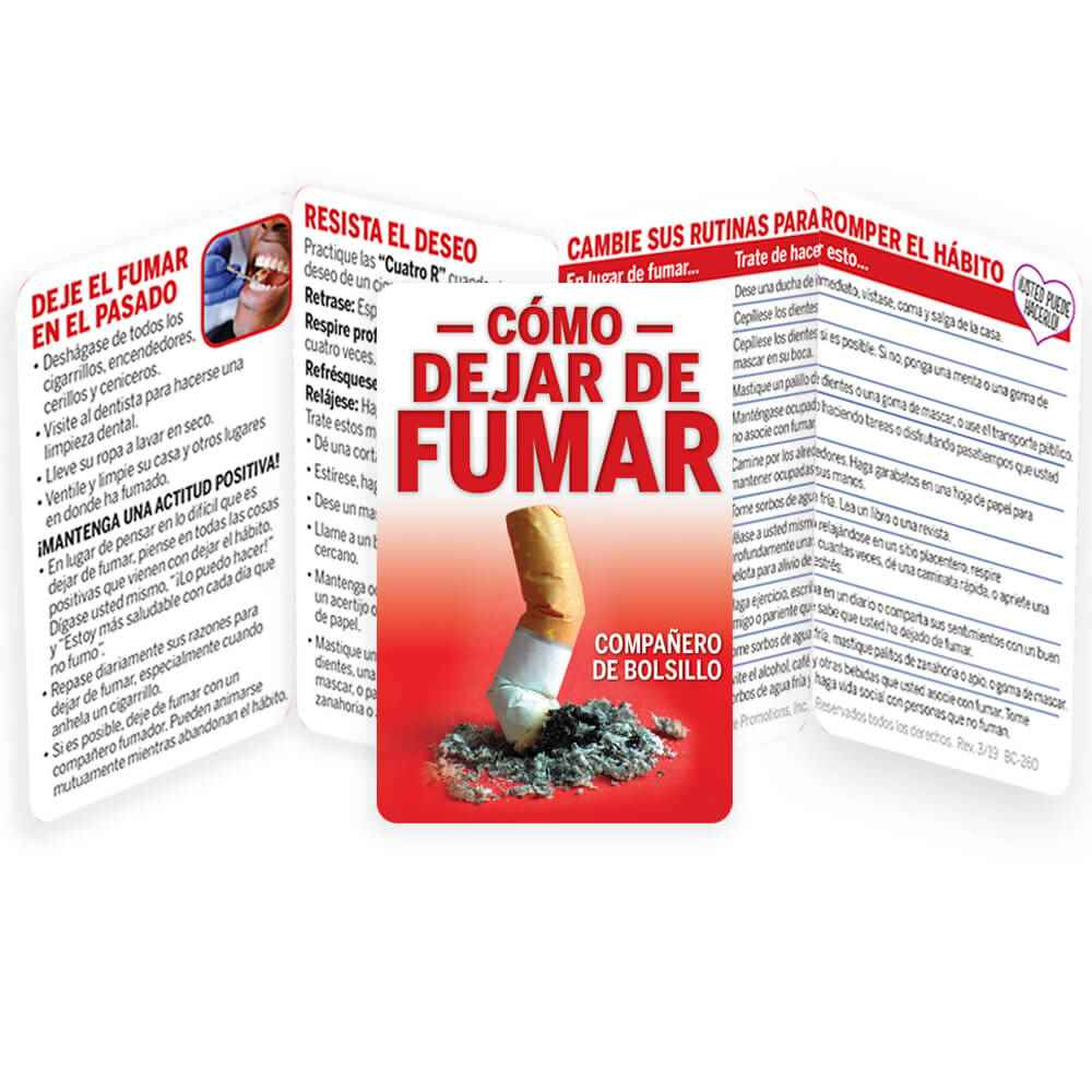 Spanish Language How To Stop Smoking Pocket Pal - Personalization Available