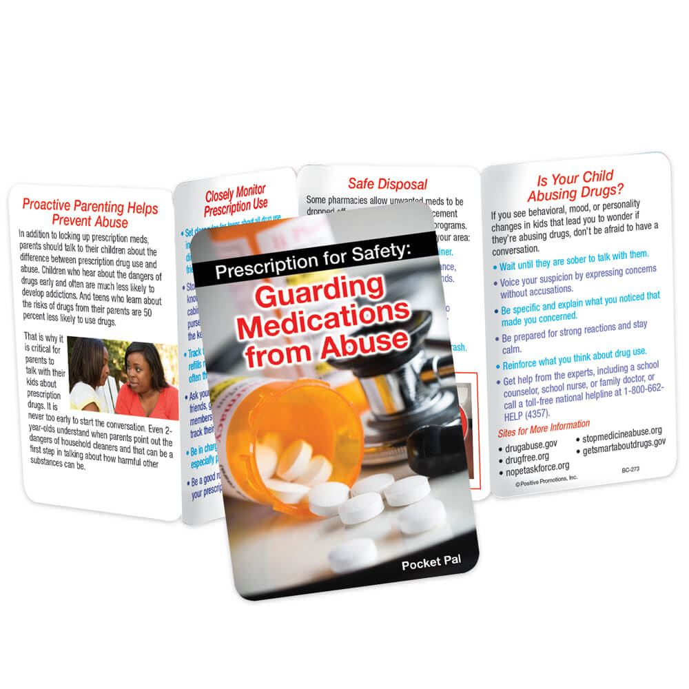 Prescription For Safety: Guarding Medications From Abuse Pocket Pal - Personalization Available