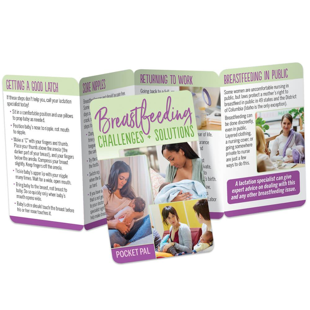 Breastfeeding Challenges & Solutions Pocket Pal - Personalization Available