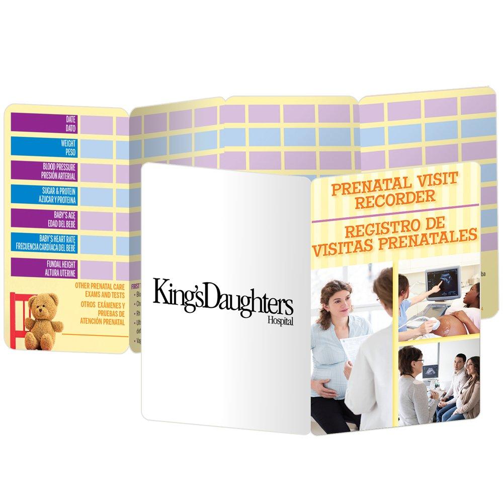 Prenatal Visit Recorder English/Spanish Pocket Pal - Personalization Available