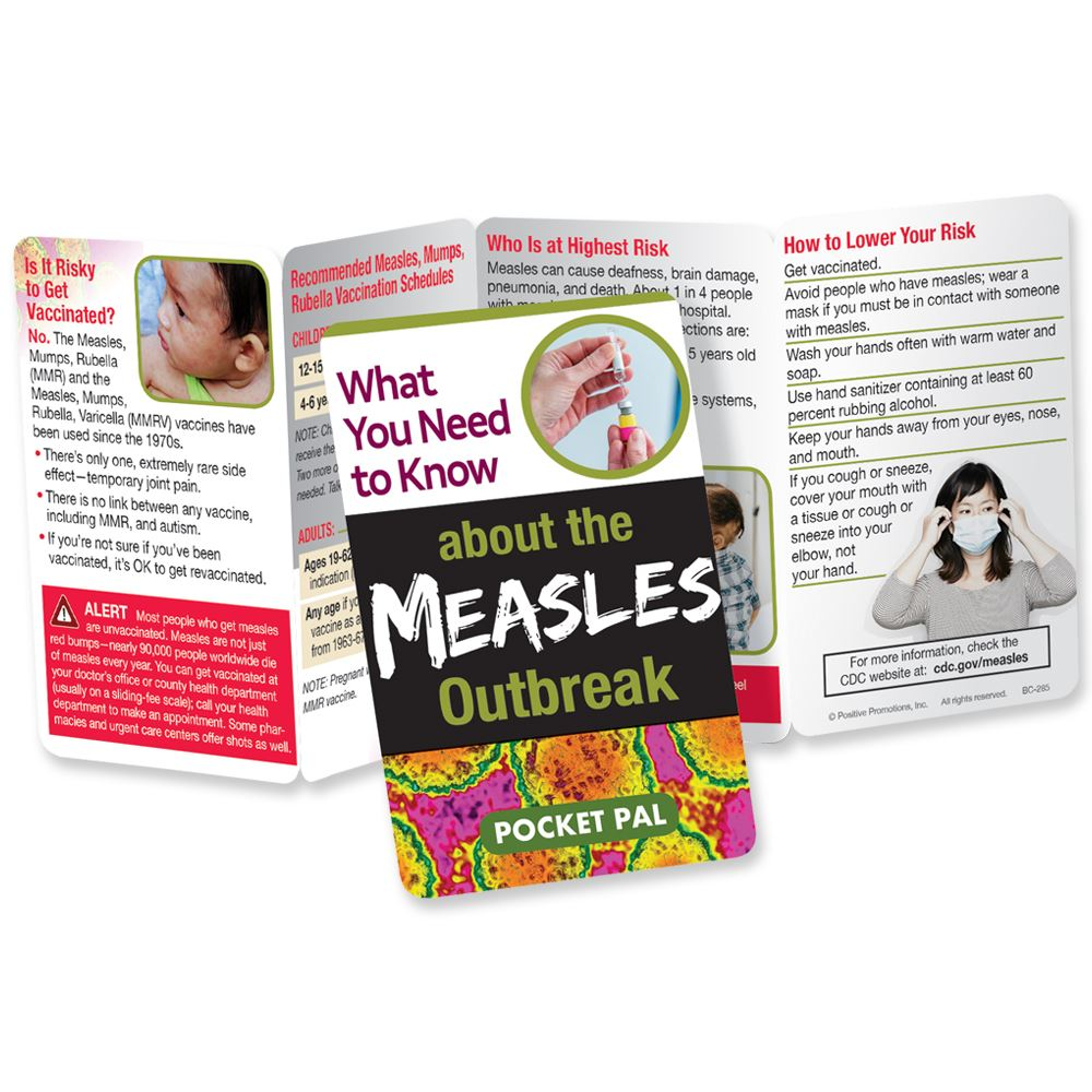 What You Need To Know About The Measles Outbreak Pocket Pal - Personalization Available