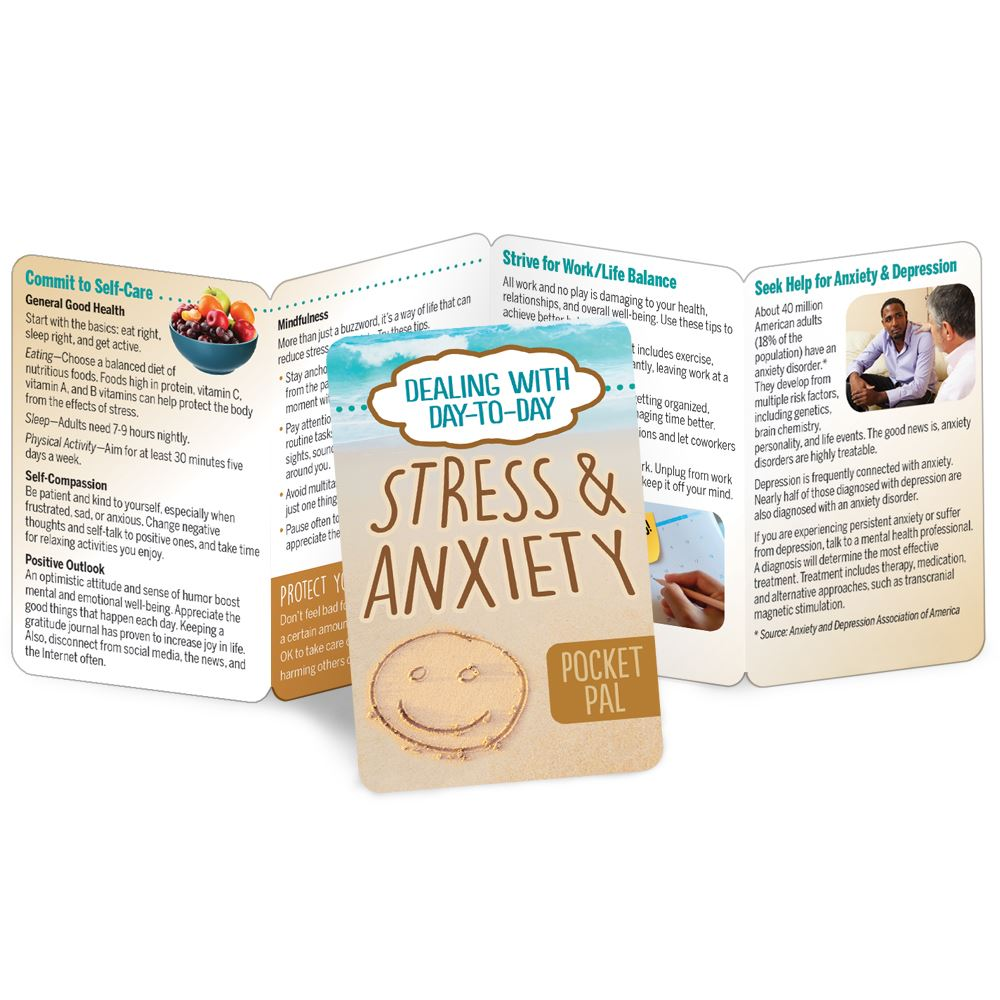 Dealing With Day-to-Day Stress and Anxiety Pocket Pal - Personalization Available
