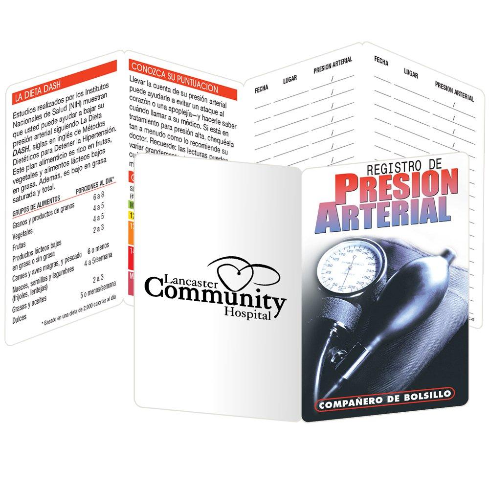 Blood Pressure Recorder Pocket Pal Spanish Language - Personalization Available
