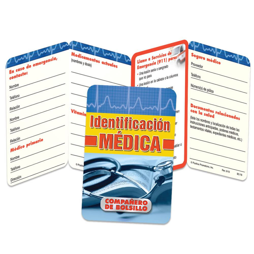 Medical I.D. Spanish Language Pocket Pal - Personalization Available