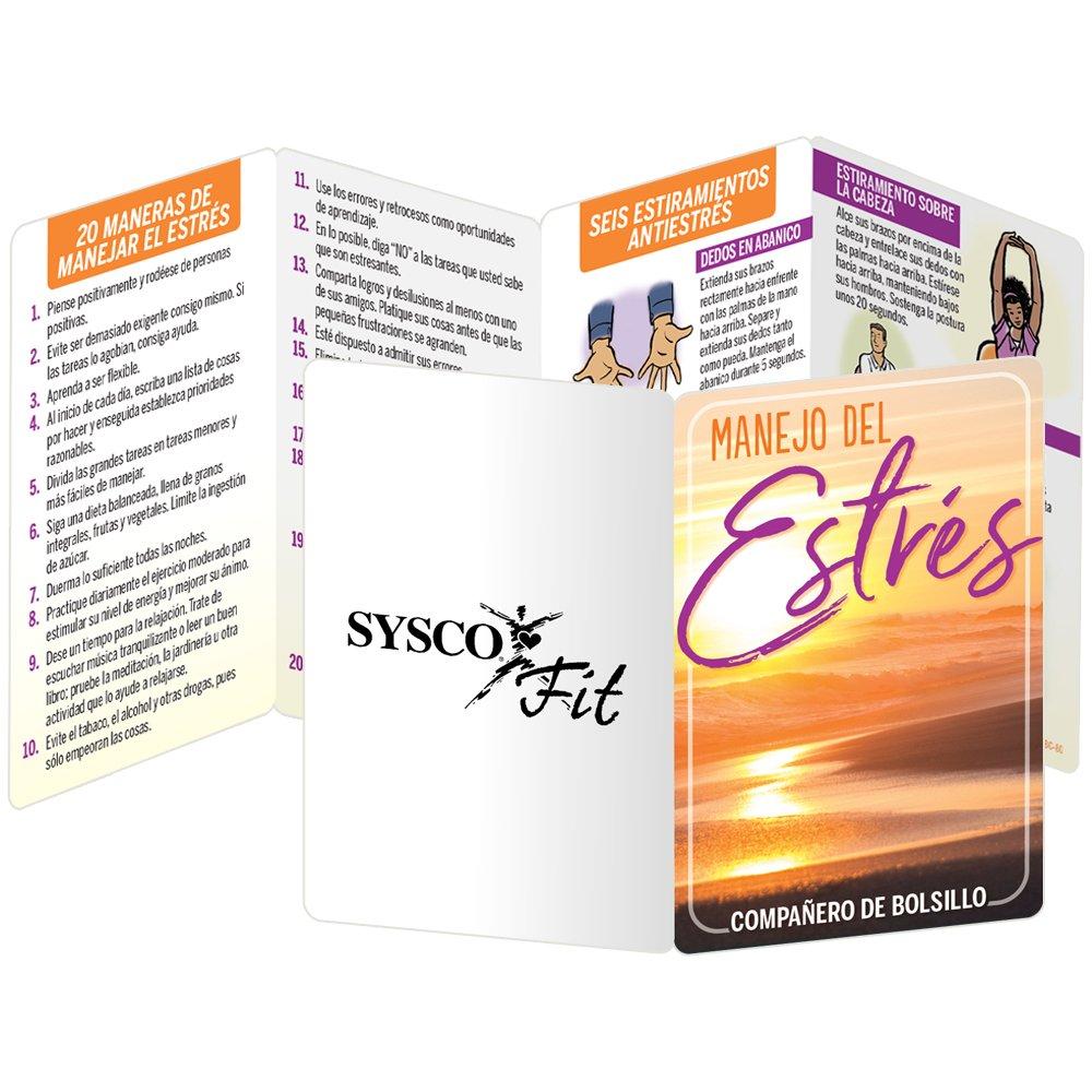 Stress Management Spanish Language Pocket Pal - Personalization Available