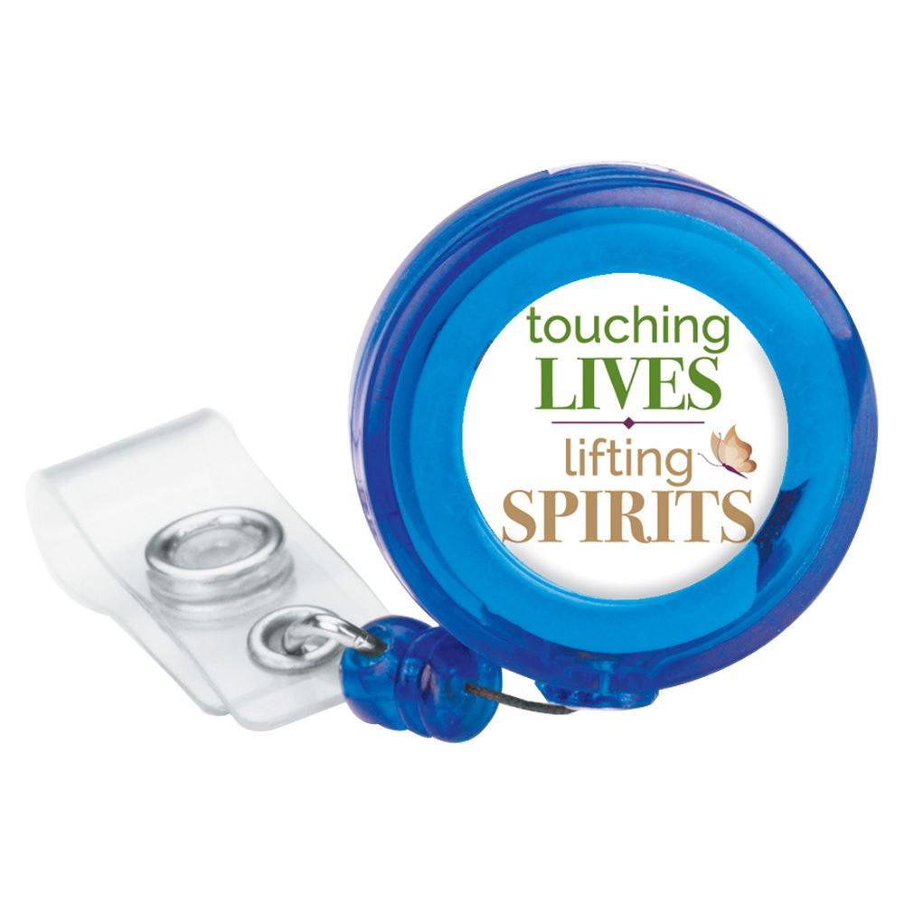 Touching Lives, Lifting Spirits Retractable Badge Holder