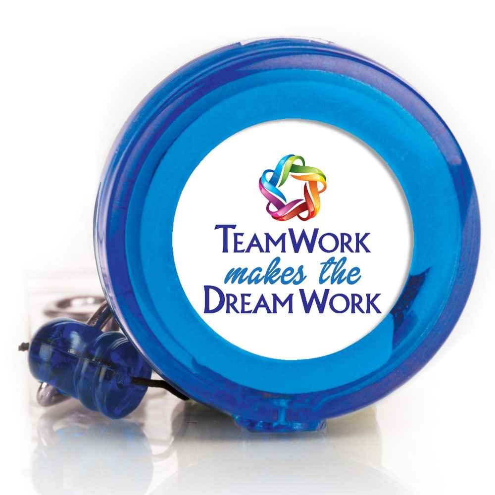 Teamwork Makes The Dream Work 4-Color Retractable Badge Holder
