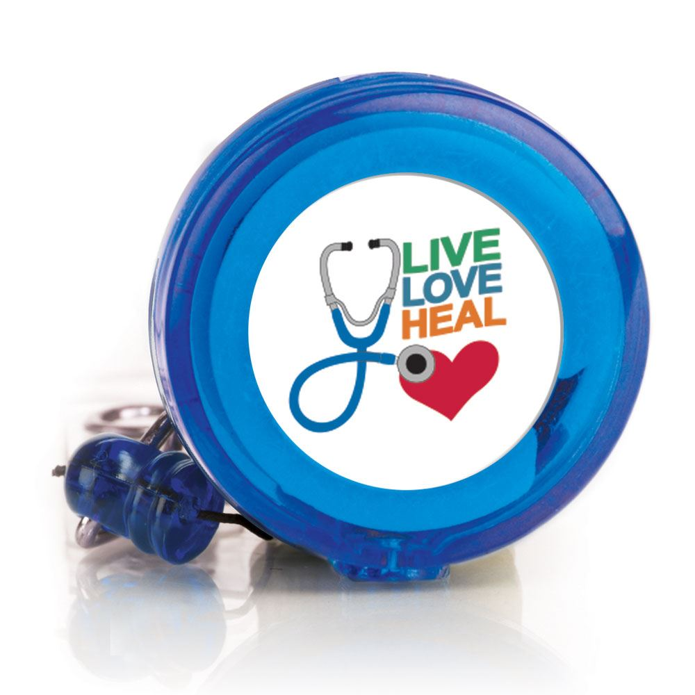 Live Love Heal 4-Color Retractable Badge Holder