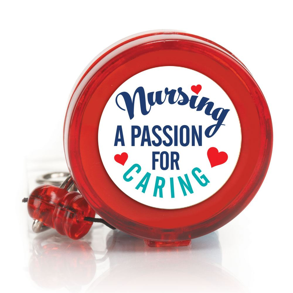 Nursing A Passion For Caring 4-Color Retractable Badge Holder