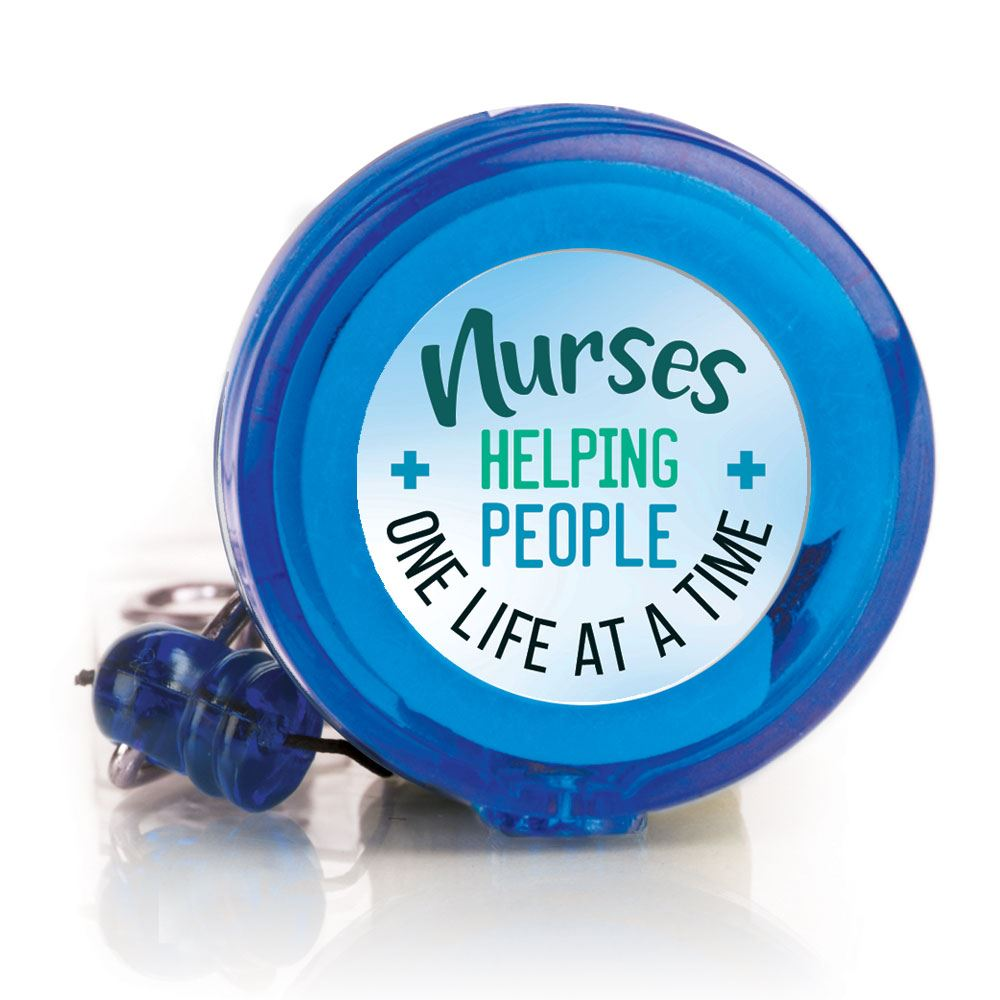 Nurses Helping People One Life At A time 4-Color Retractable Badge Holder