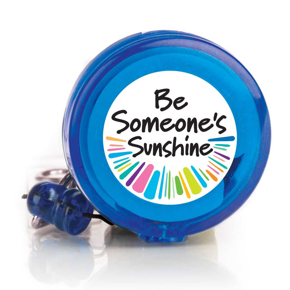 Be Someone's Sunshine 4-Color Retractable Badge Holder