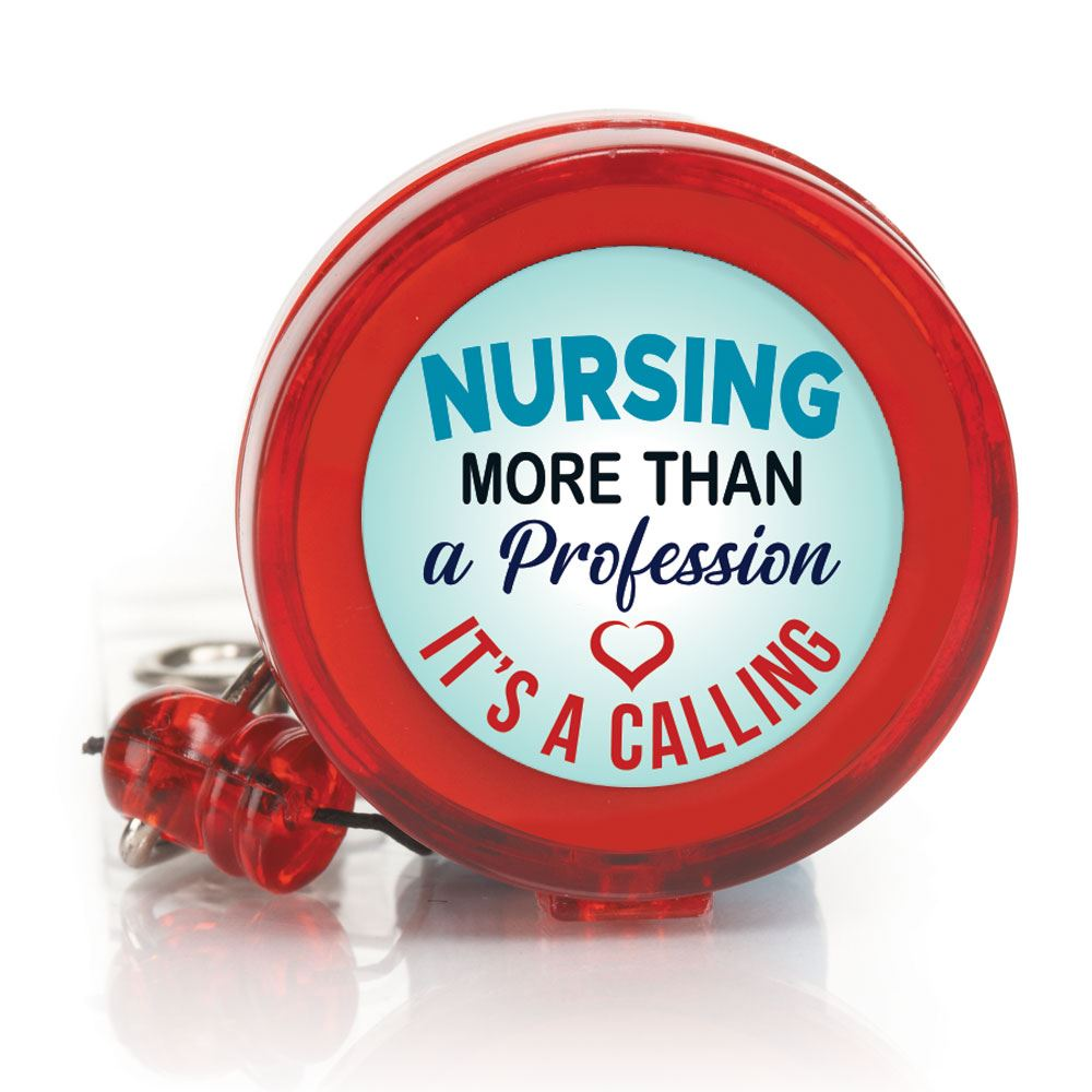 Nursing: More Than A Profession, It's A Calling Four Color Retractable Badge Holder