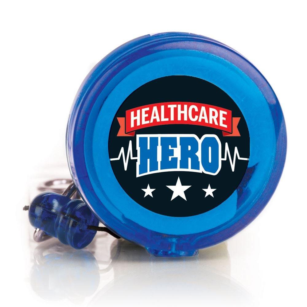 Healthcare Hero Four Color Retractable Badge Holder