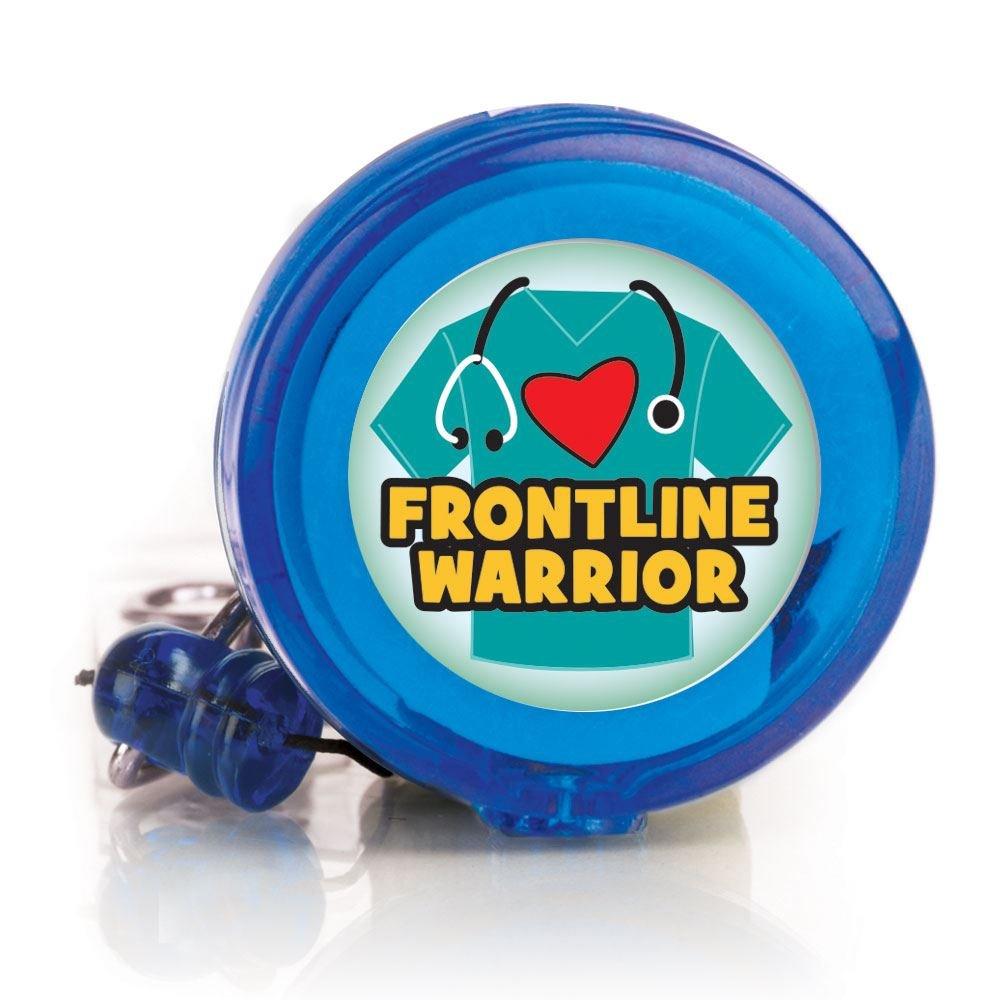 Frontline Warrior Four Color Retractable Badge Holder