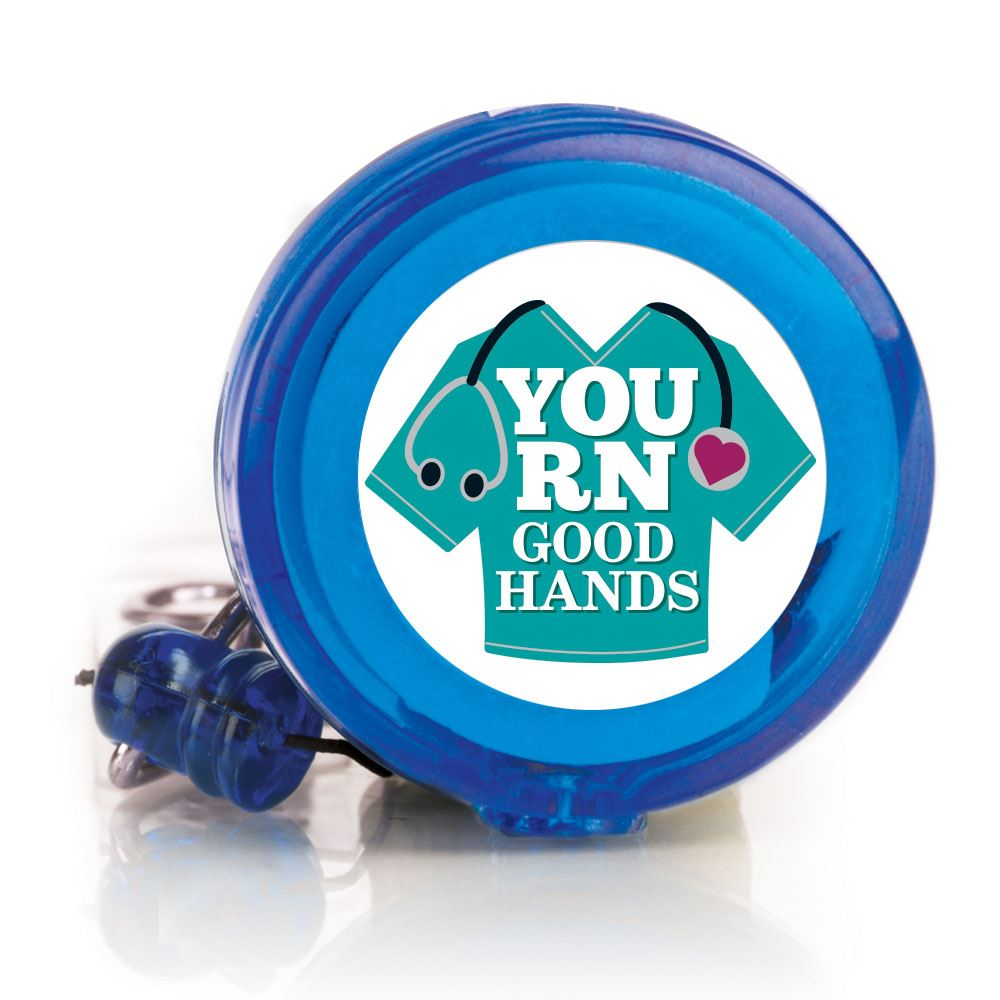 You RN Good Hands Four Color Retractable Badge Holder