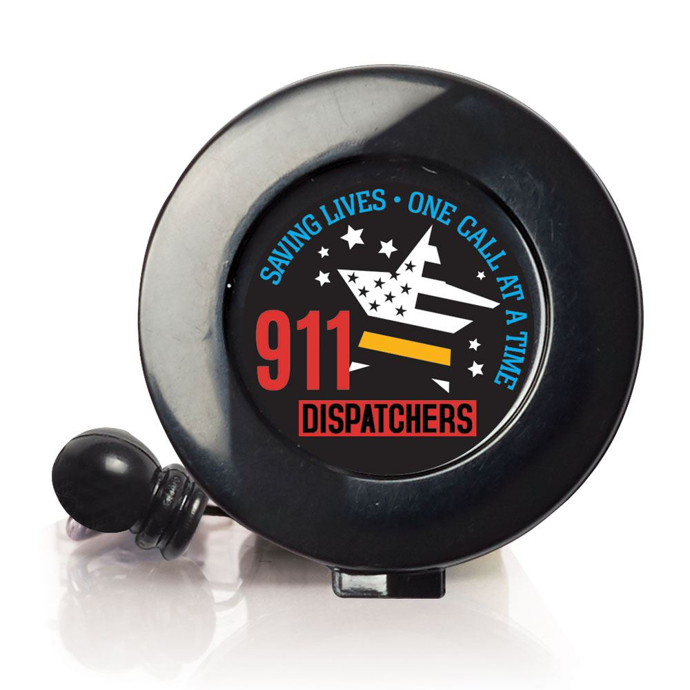 911 Dispatchers Saving Lives One Call At A Time Retractable Badge Holder