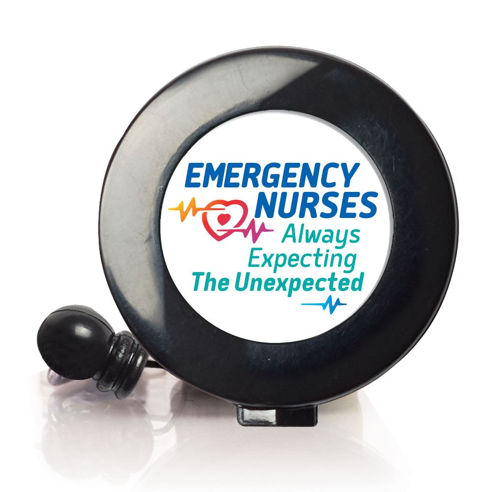 Emergency Nurses: Always Expecting The Unexpected Retractable Badge Holder