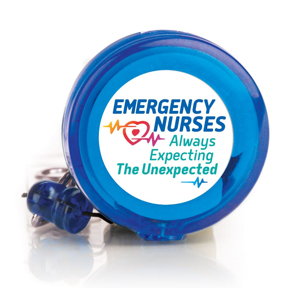 Emergency Nurses: Always Expecting The Unexpected Blue Retractable Badge Holder
