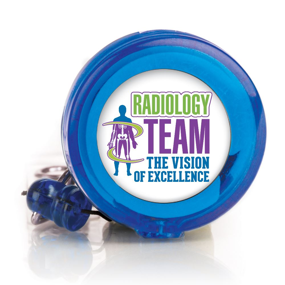 Radiology Team: The Vision Of Excellence Retractable Badge Holder