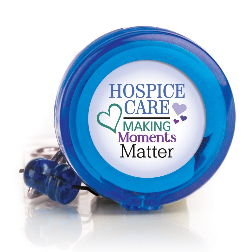 Hospice Care: Making Moments Matter Retractable Badge Holder