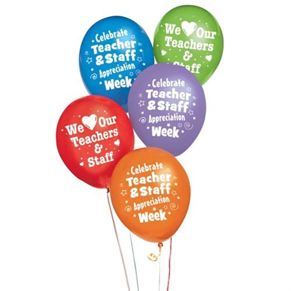 Teacher & Staff 2-Sided Celebration Balloons (50-Pack)