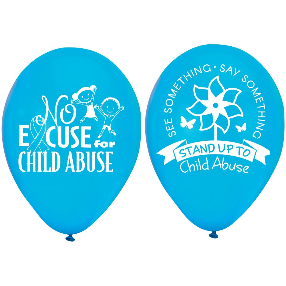 See Something. Say Something. Stand Up to Child Abuse Blue 2-Sided Balloons - Pack of 50