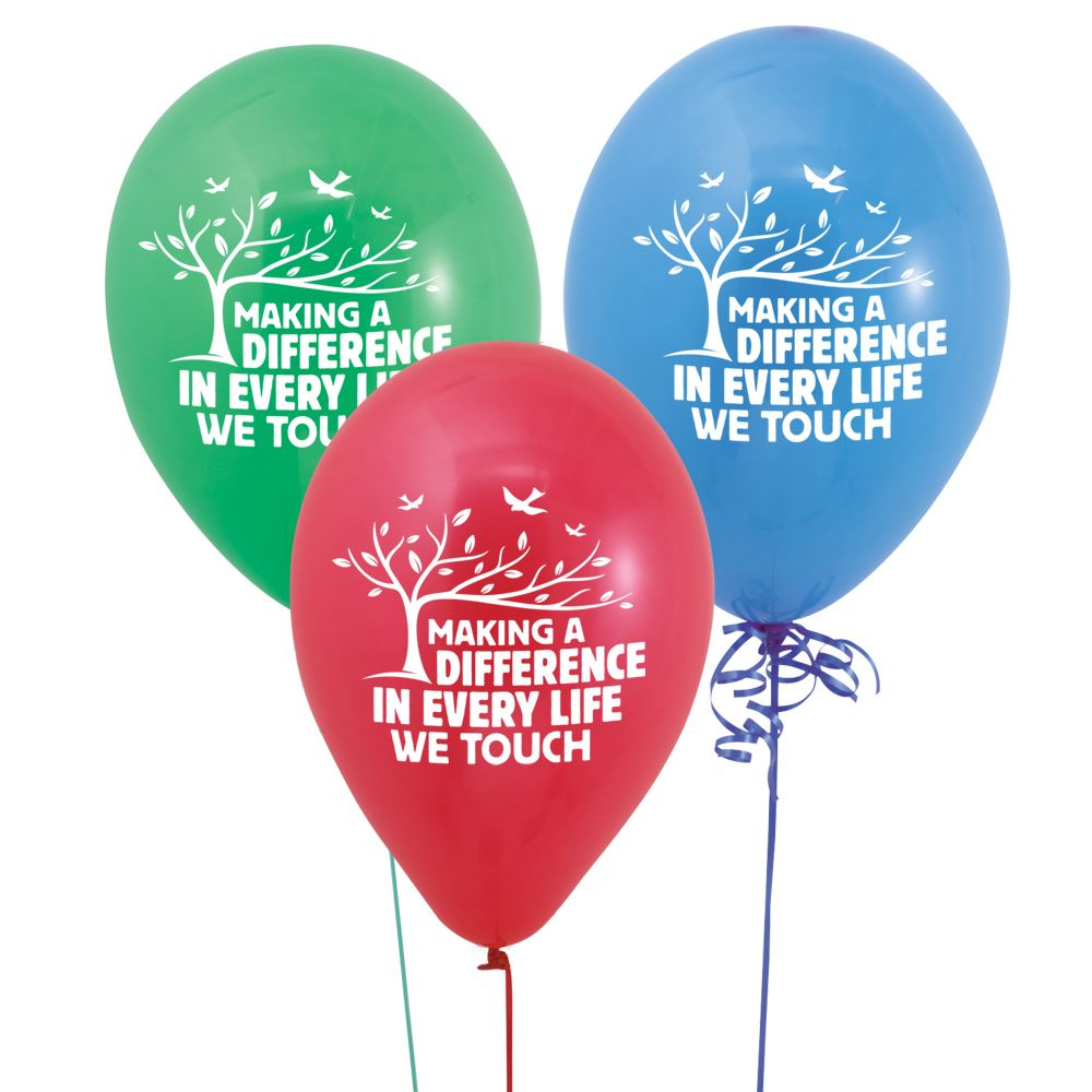 Making A Difference In Every Life We Touch Balloons