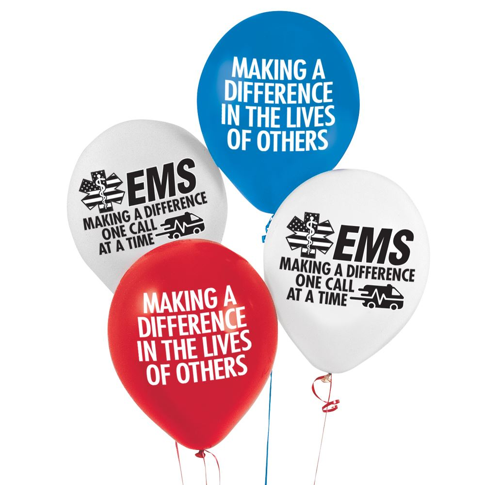 EMS Making A Difference One Call At A Time Celebration Balloons