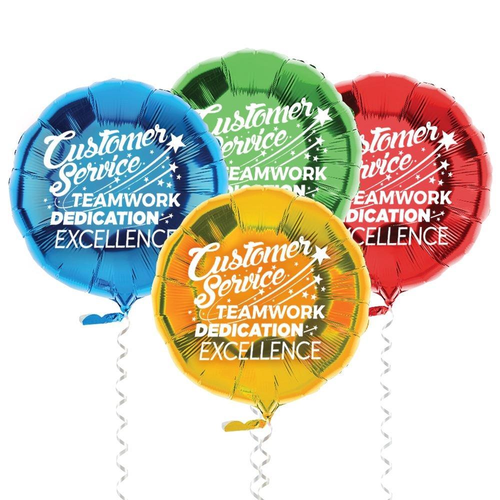 Customer Service Teamwork, Dedication, Excellence Foil Balloons
