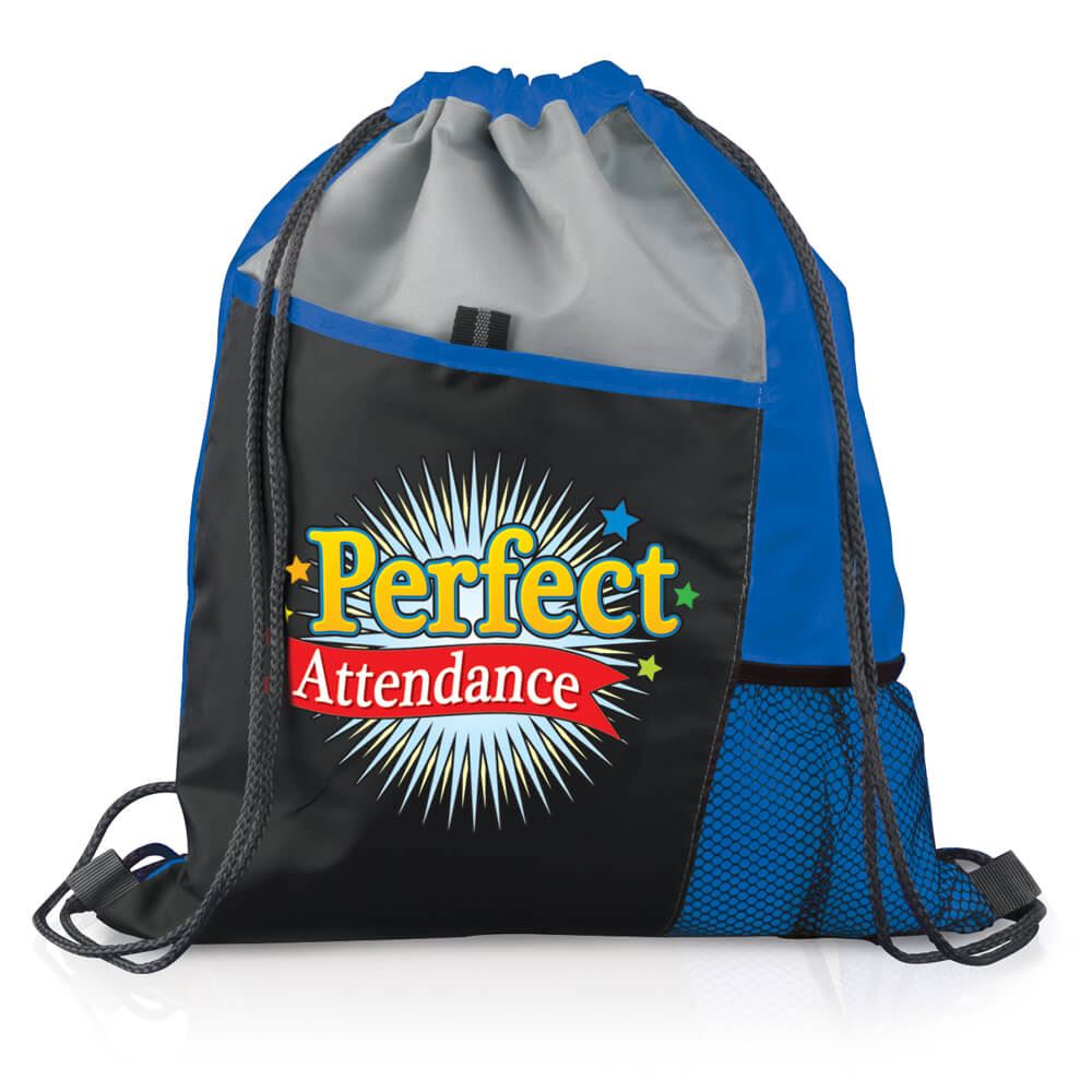 Perfect Attendance Drawstring Backpack