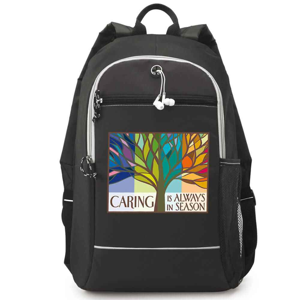 Caring Is Always In Season Black Bayside Backpack