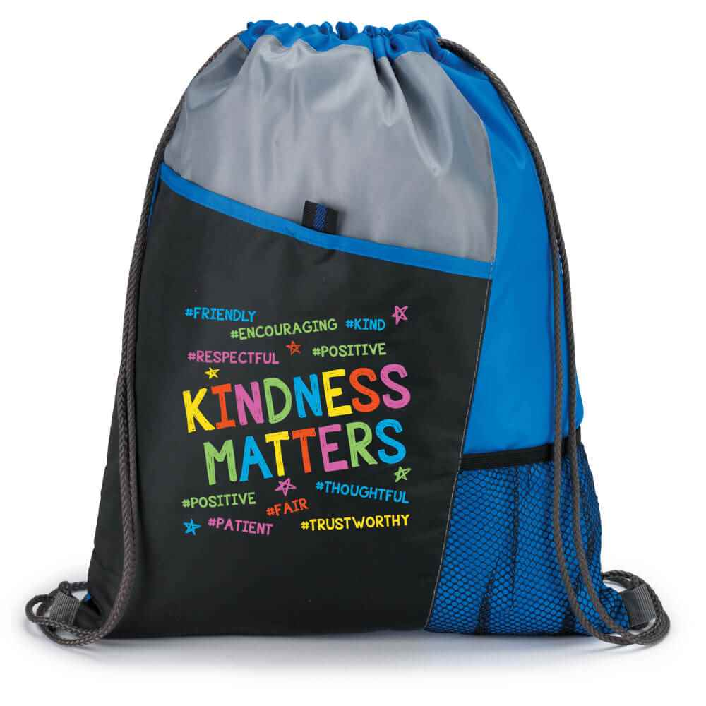 Kindness Matters Drawstring Backpack
