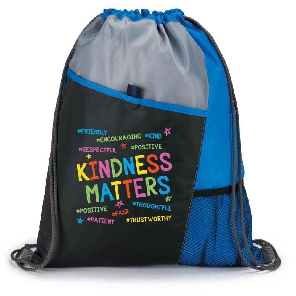 Kindness Matters Drawstring Backpack