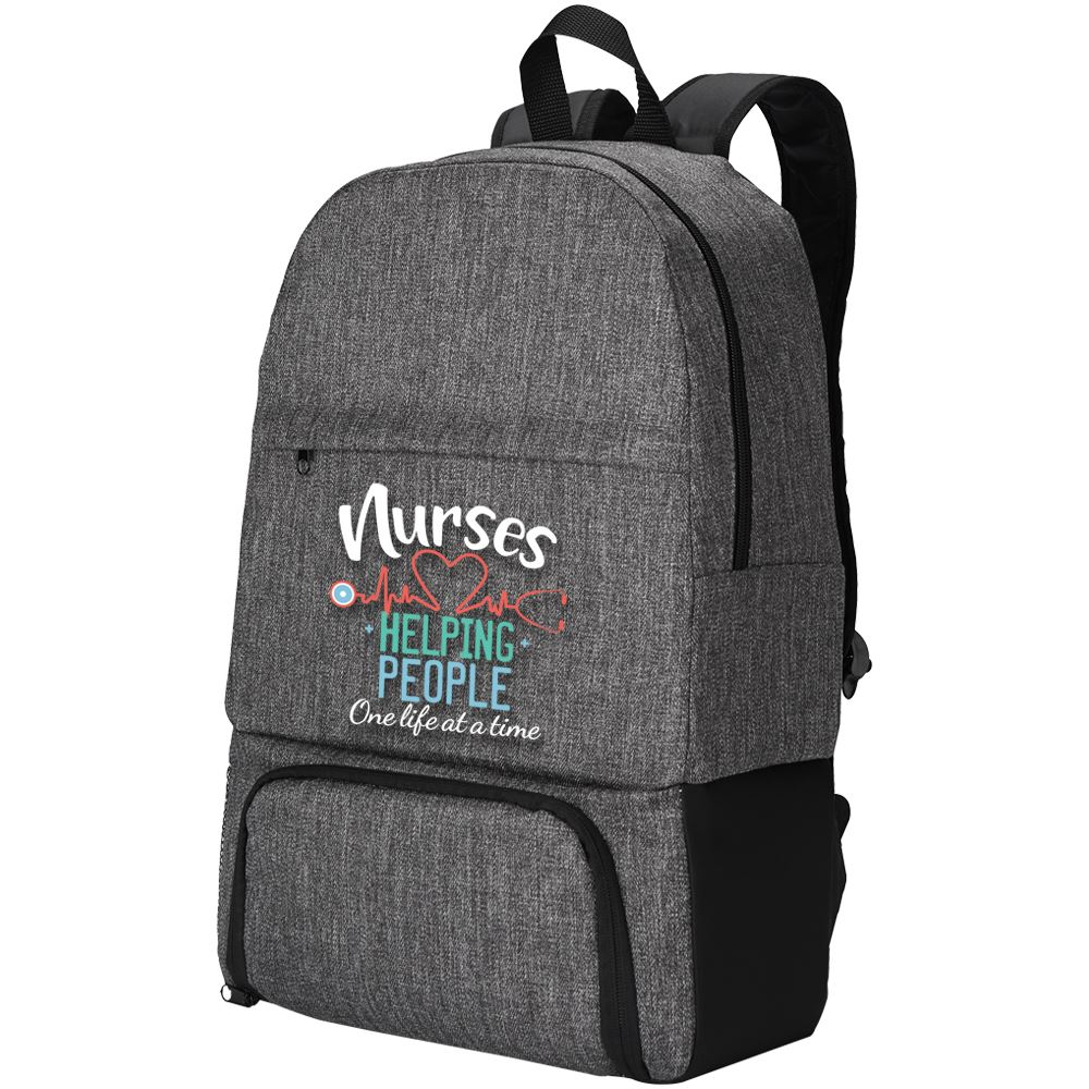 Nurses: Helping People One Life At A Time Summit 2-in-1 Backpack/Cooler